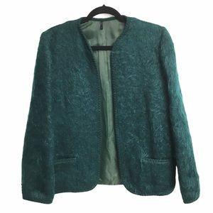 ANDREW STEWART Vintage Mohair Wool Blazer Green 14